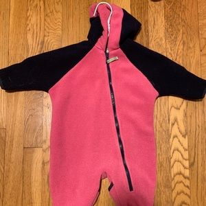 Baby Girl LL Bean Fleece Bunting, 0-3 months